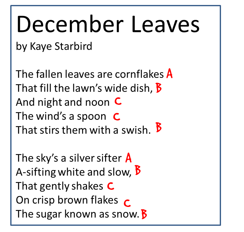 identifying and labeling rhyme scheme in poetry, makes a great ...