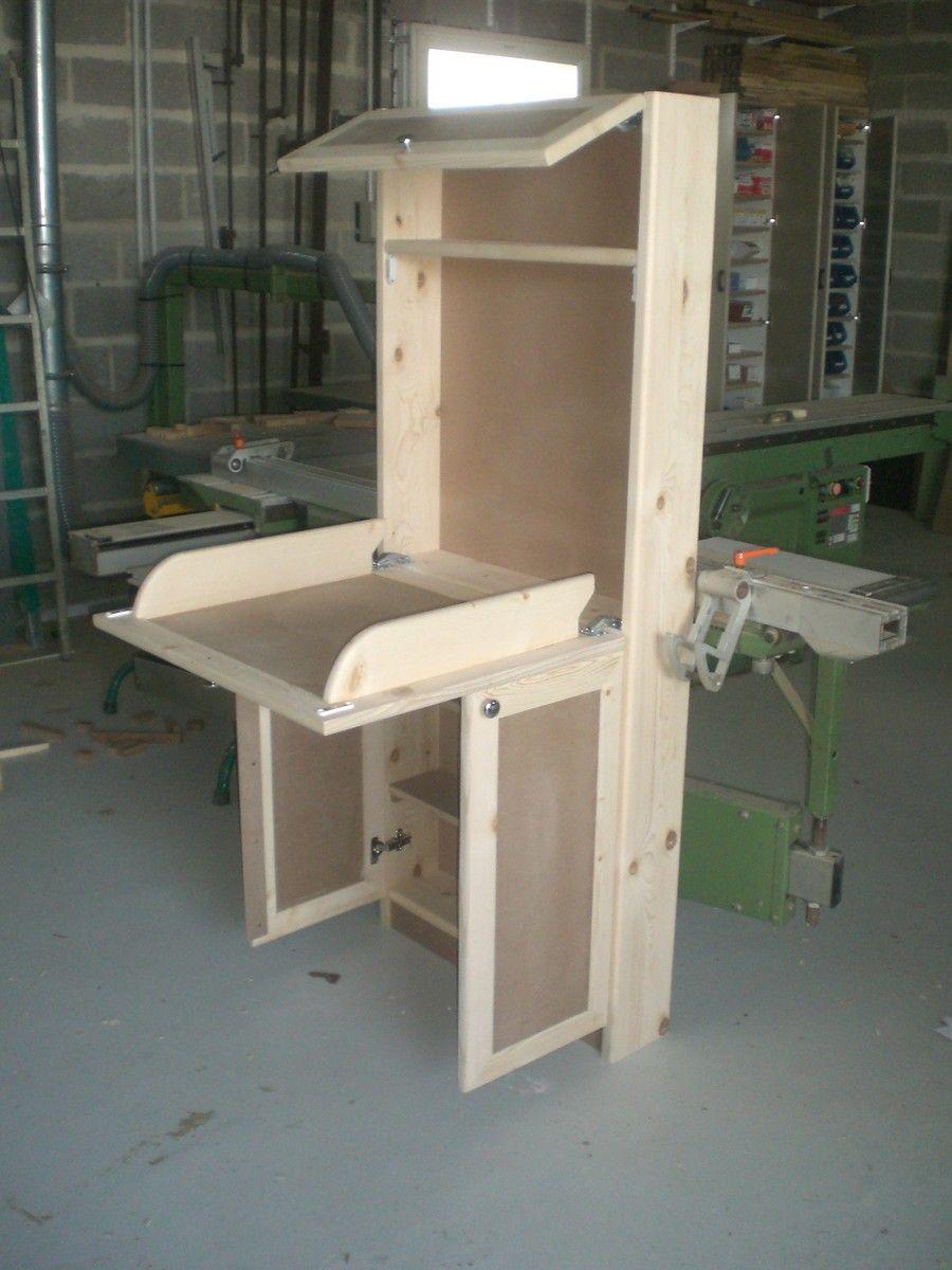dans un style moderne table langer murale en m dium et. Black Bedroom Furniture Sets. Home Design Ideas