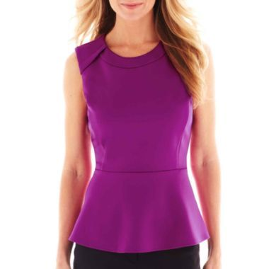 43329c774921d2 Worthington® Peplum Top - Petite found at @JCPenney | Clothes!!! ^_ ...