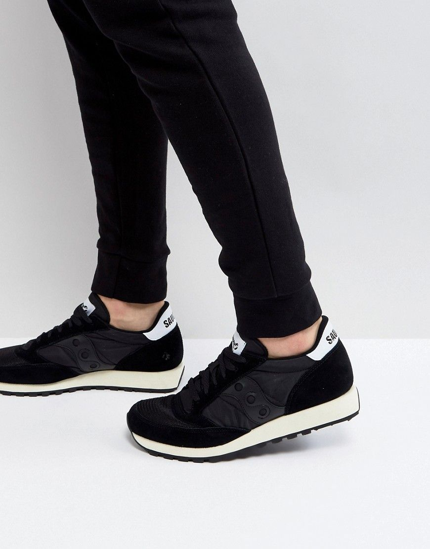 SAUCONY JAZZ ORIGINAL VINTAGE SNEAKERS IN BLACK S70368-9 - BLACK.  saucony   shoes   0e430aaf3bd