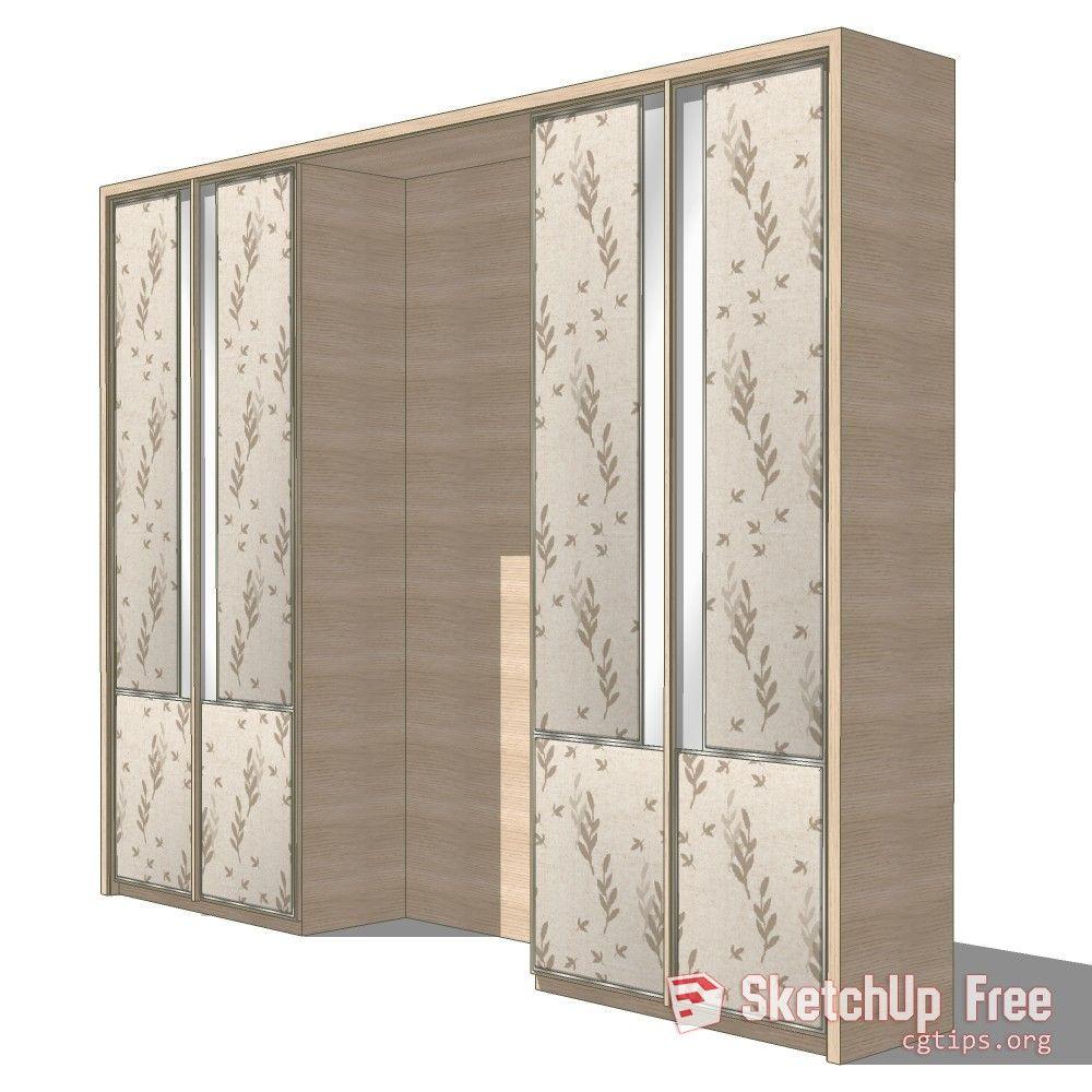 881 Wardrobe Sketchup Model Free Download | Sketchup Free