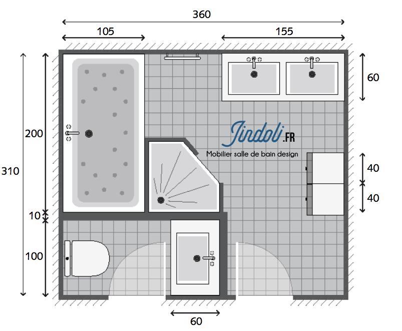 Exemple Plan De Salle De Bain De 12 6m2 Plan Salle De Bain Amenagement Salle De Bain Salle De Bain 5m2