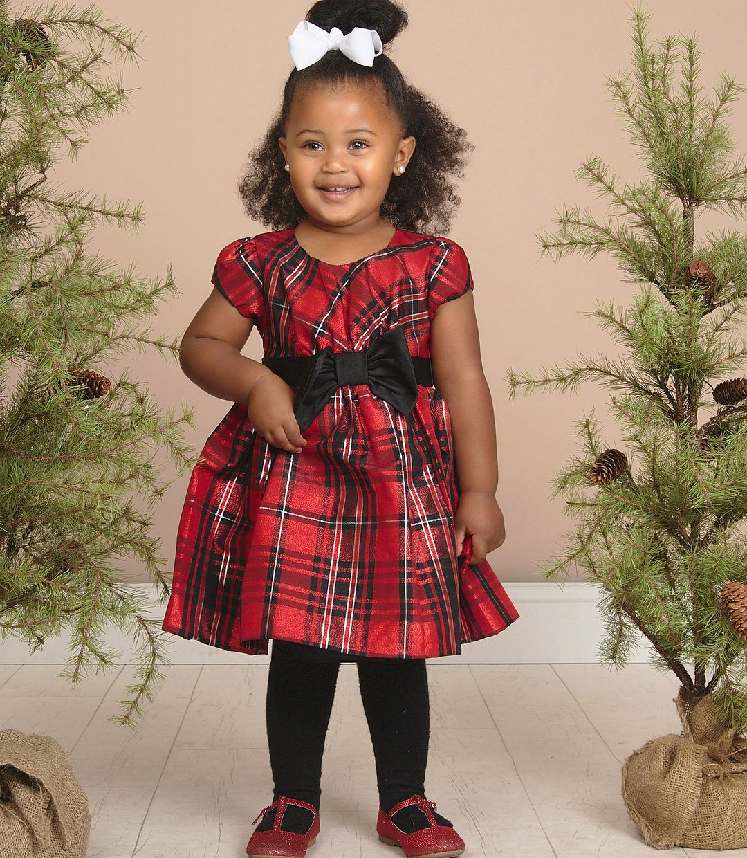 e44dd1eb Mia Isabella - 2 years ❤ Gorgeous baby girl in her adorable Christmas  holiday dress (17 Nov 2015)