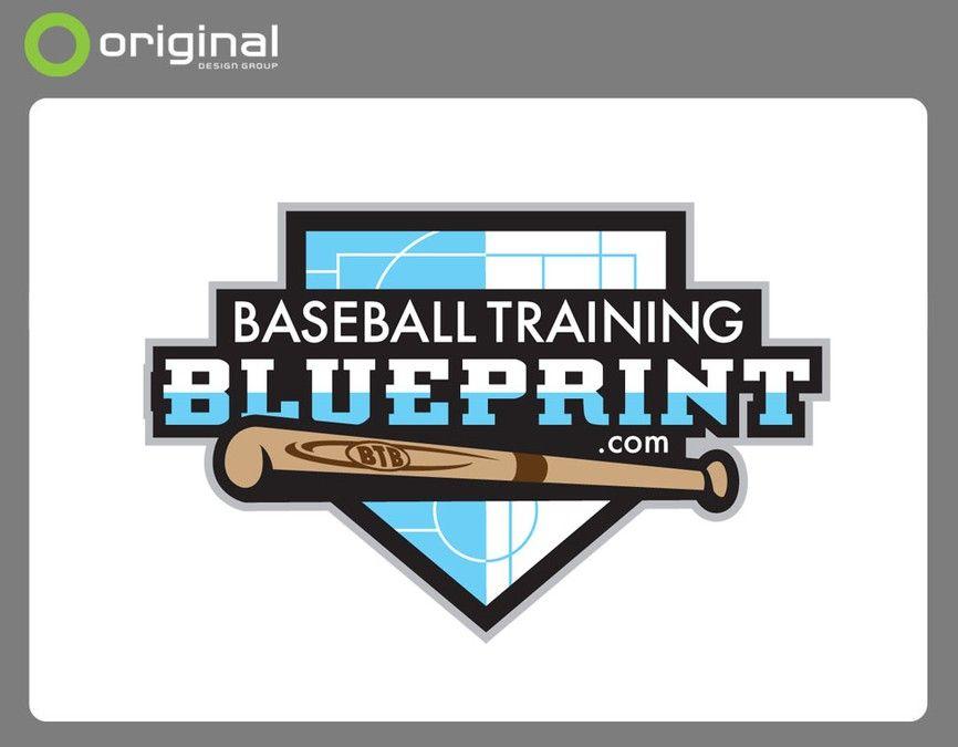 Baseball training blueprint logo by tmcd logo designers love baseball training blueprint logo by tmcd malvernweather Image collections