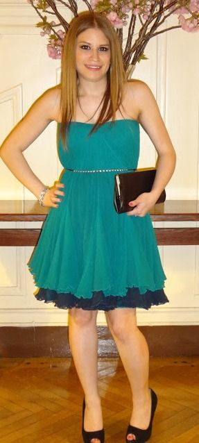 Teal wedding guest dress @Rent The Runway | Outfit of the Day ...