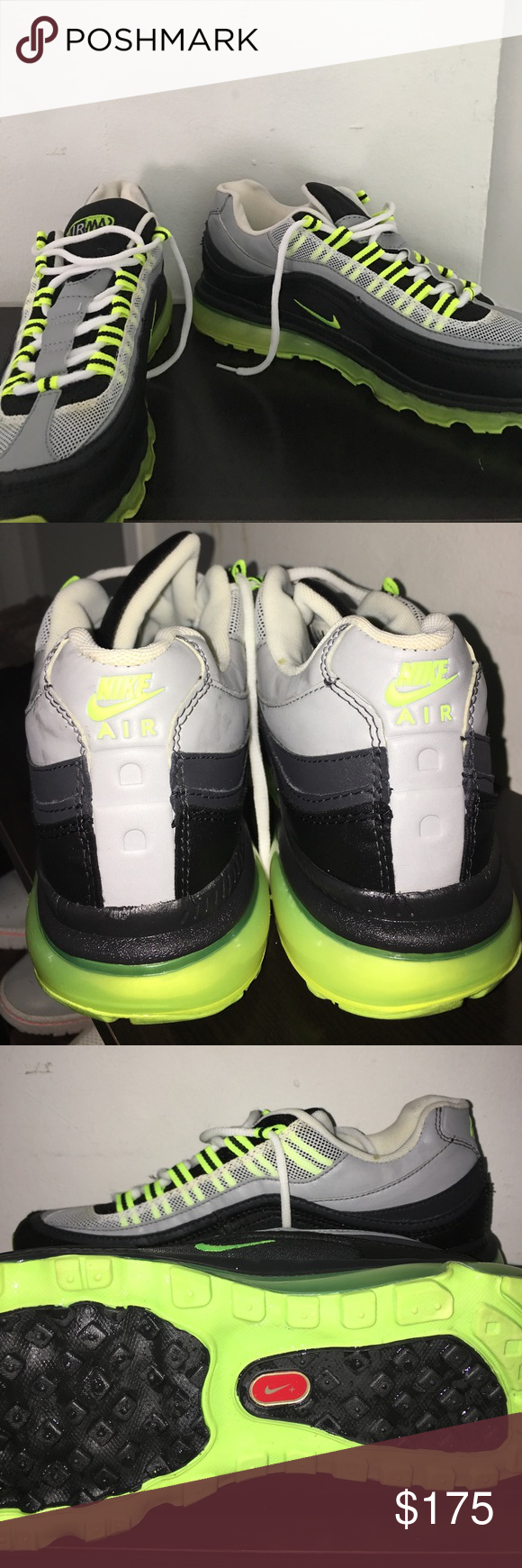 a876eb6af82 Nike Air Max 24-7 MENS Worn Twice Over The Summer (Semi-New) Neon-Green