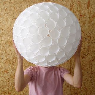 Clever art made from polystyrene cups
