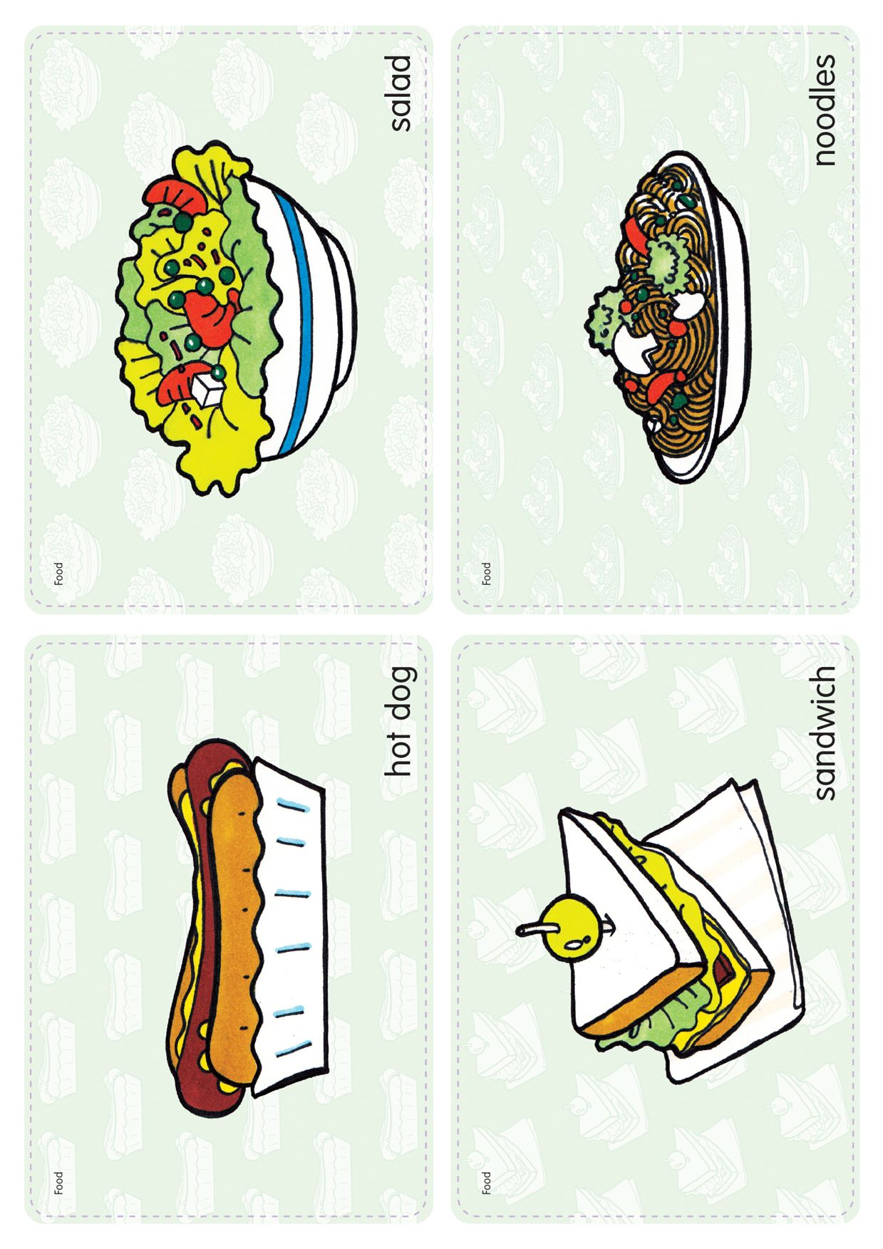 Food Flash Cards Free Download