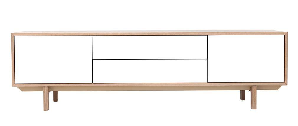 acky meuble tv scandinave plaque chene