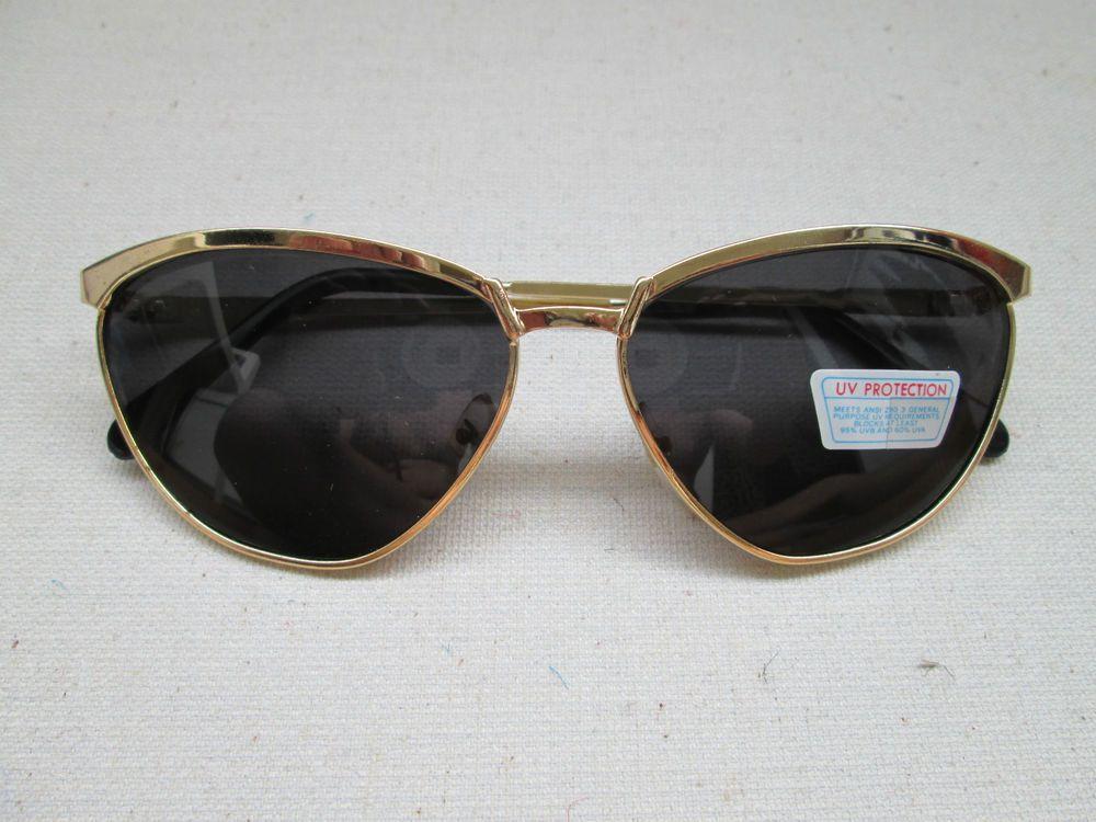 1 goldfarbene Sonnenbrille Retro Brille Nerdbrille 50s 60s Vintage Neu 50  60 2 aad09bc97bff