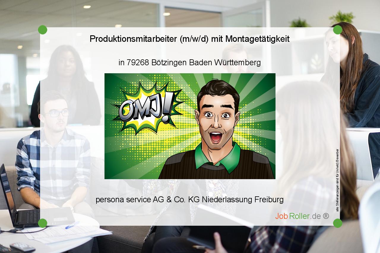 Produktionsmitarbeiter M W D Mit Montagetatigkeit In Botzingen Stellenanzeigen Job Mitarbeiter