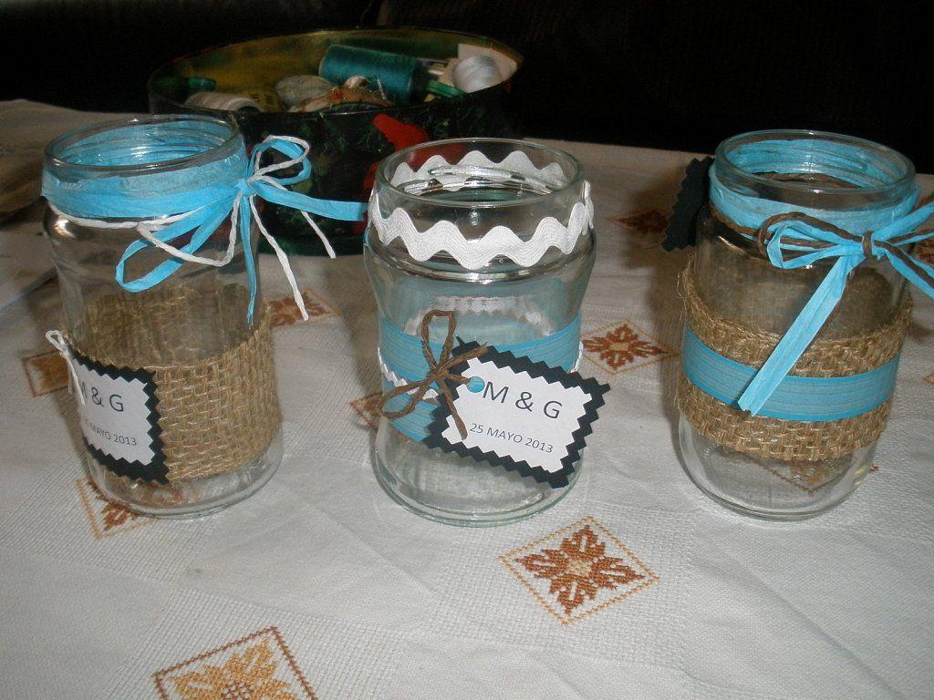 Adornar tarros de cristal ideas para candy bar - Como decorar botes de cristal para chuches ...