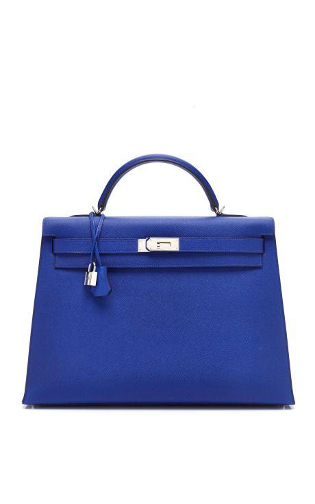 Designer Hermes See Details Here 40cm Electric Blue Epsom Leather Kelly
