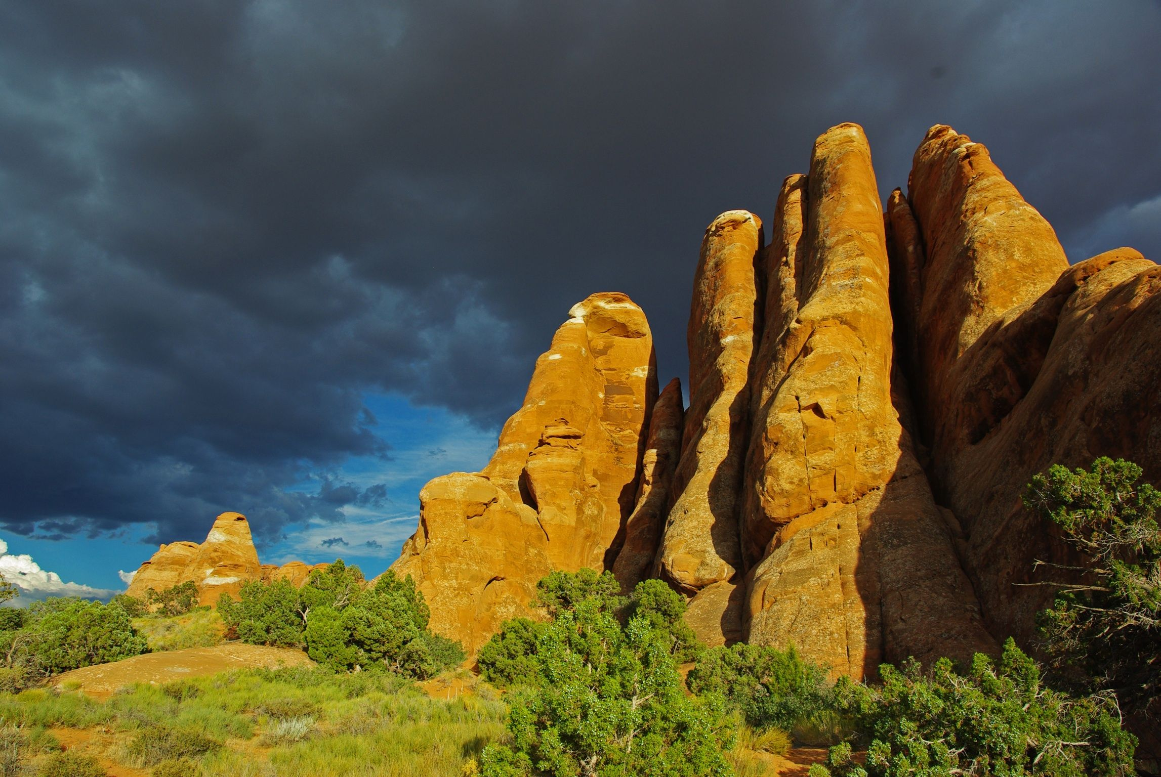 Rain coming over Arches