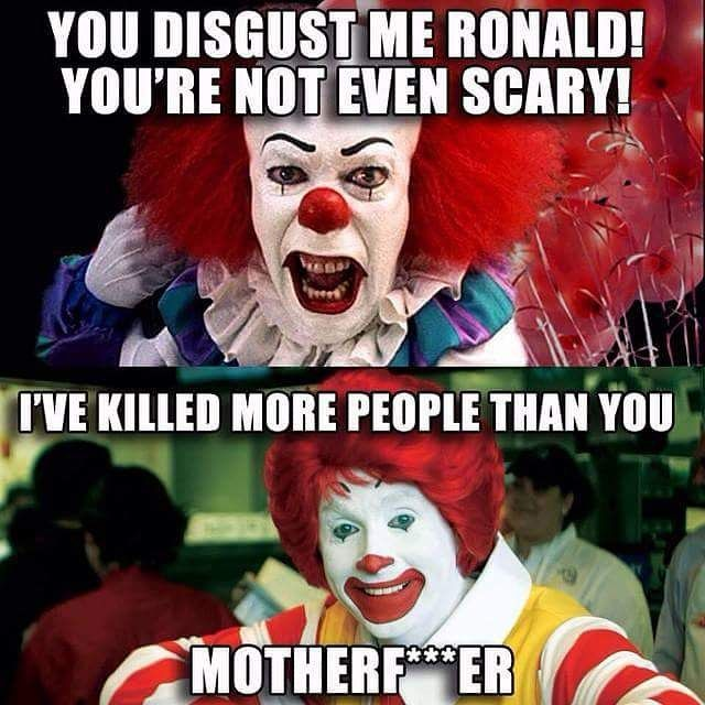 73034224dc33faf9a0223e67768b5b13 instagram meme pennywise the clown from stephen king's it, and