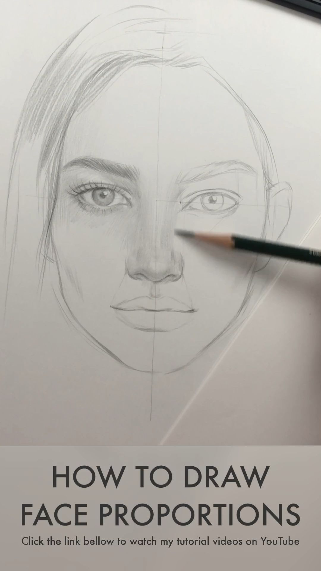 How to draw a face. Face proportions by Nadia Coolrista  - YouTube #drawingideas