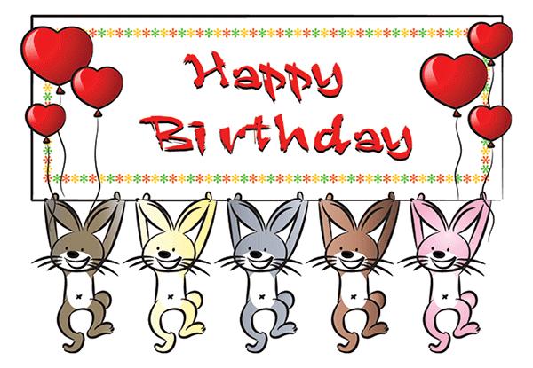 Birthday Rabbits Facebook Symbol Happy Birthday Pinterest