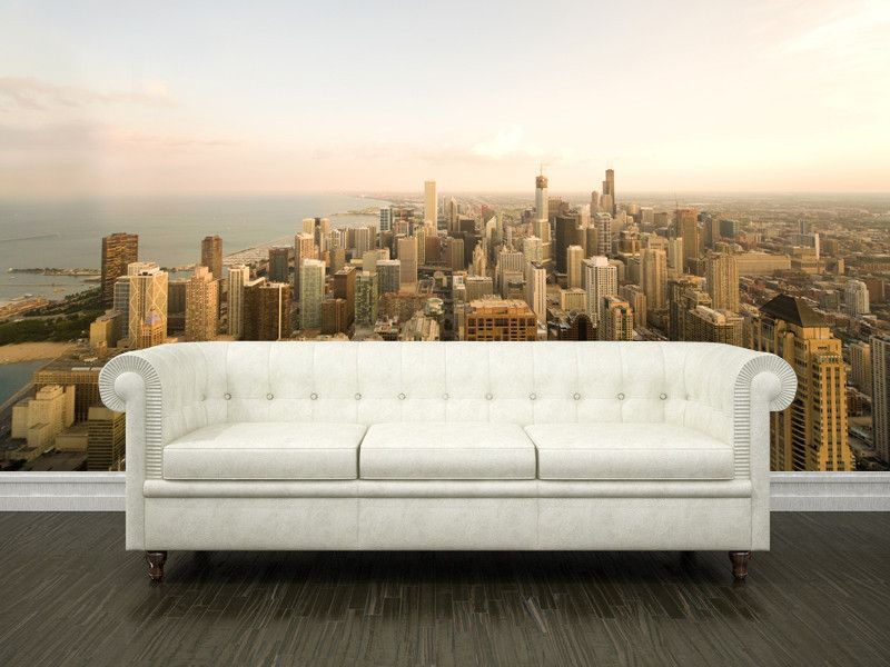 Chicago Cityscape Wall Mural Wallificent Wallificent Ideas For