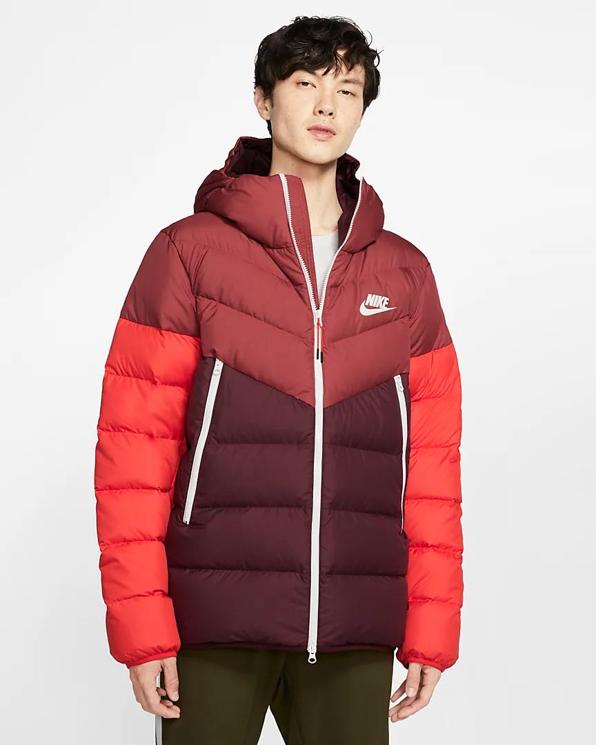 Nike Sportswear Windrunner Down Fill Hooded Puffer Jacket Nike Com Nike Clothes Mens Jackets Nike Sportswear [ 1080 x 864 Pixel ]