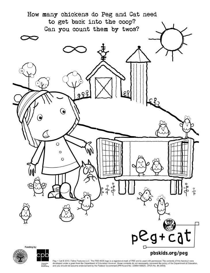 Pin By Christan Teapole On Pbs Coloring Pages Peg Plus Cat