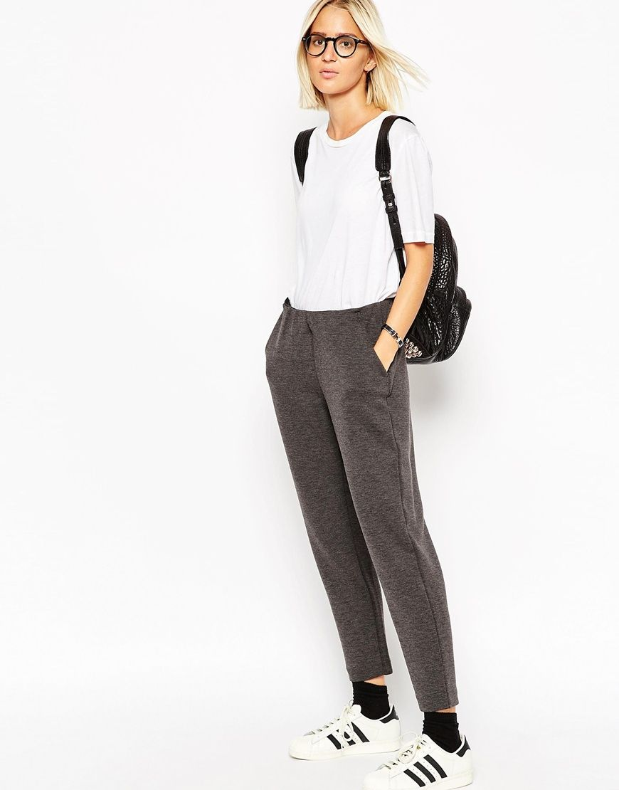 ASOS WHITE Scuba Trousers with Pocket Detail