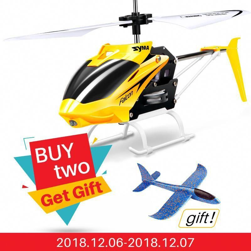 Rc Helicopters Buy Cheap Syma 2ch W25 Electric Indoor Mini Rc Aircraft Remote Control Helicopter Shatterproof Flying Toys Model 100% Original
