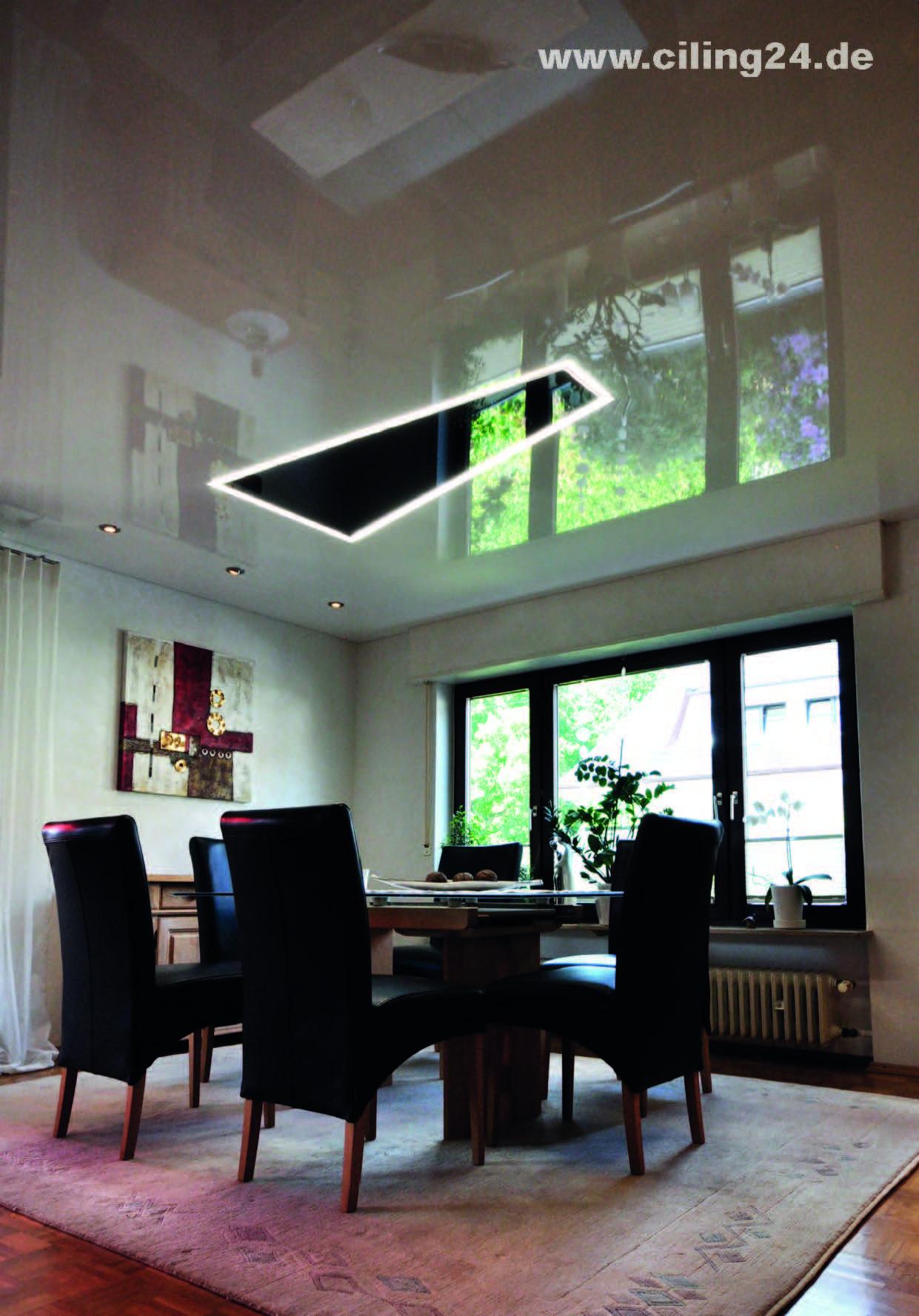 Beleuchtung Esszimmer Lichtelement Schwarz Ciling Haus Deko Zimmer Licht
