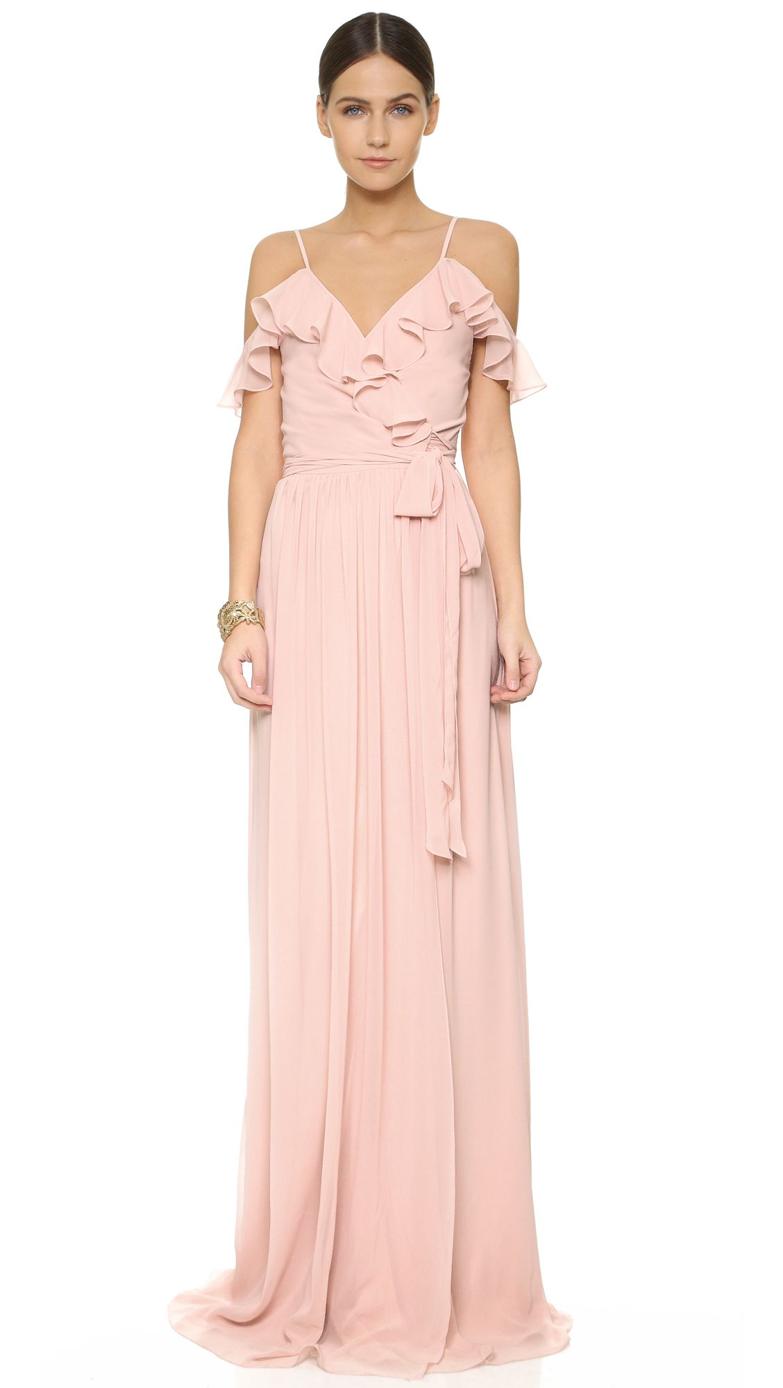 Portia off shoulder wrap dress wrap dresses shoulder and wraps blushing bridesmaid dress love this ombrellifo Choice Image