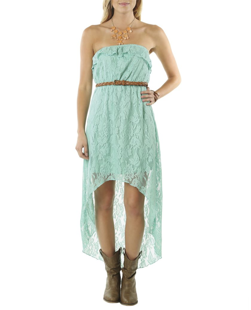 Belted High-Low Lace Dress | Shop Dresses at Wet Seal | Dresses ...