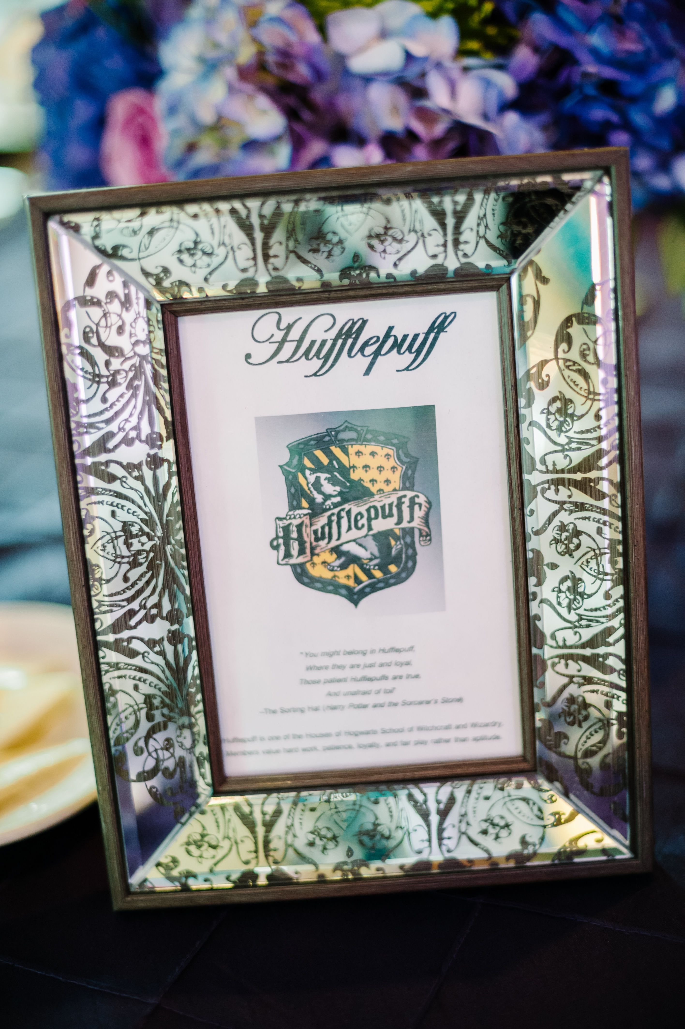 Harry Potter inspired table names for wedding reception. The picture ...
