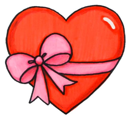 Красивые сердечки картинки срисовать