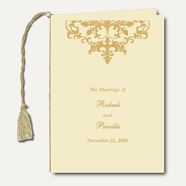 Indian wedding invitation cover page wording  Invitation