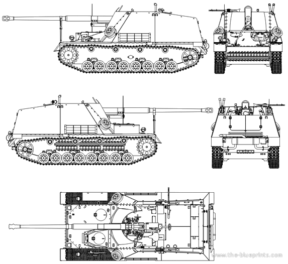 nashorn tank destroyer diagram
