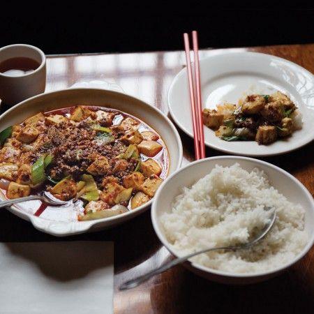 Three Dishes Mapo Tofu Lucky Peach Recipes Food Eat