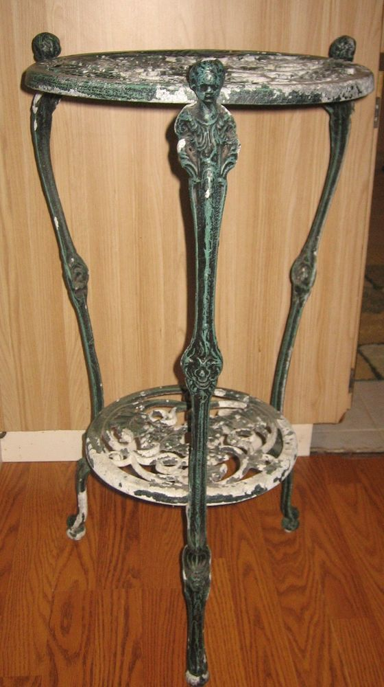 Vintage Cast Iron 2 Tier Plant Stand Table Florida Local