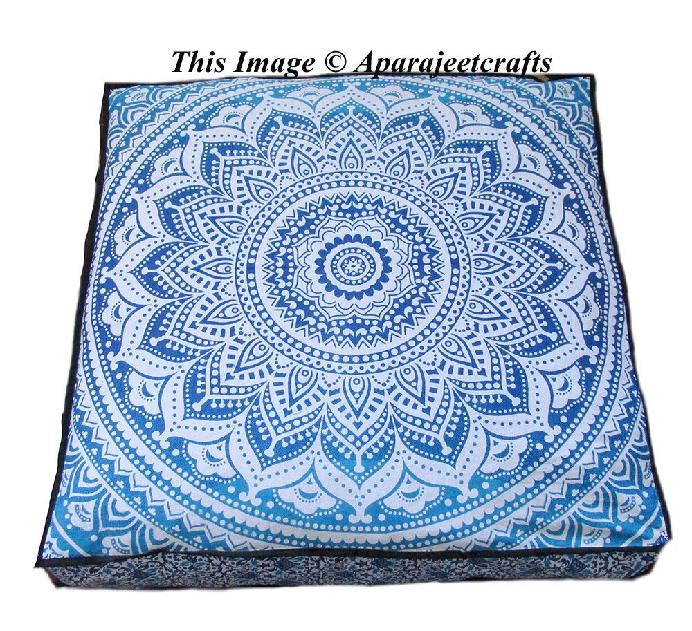 35x35 Square Large Indian Star Elephant Mandala Multicolor Dog