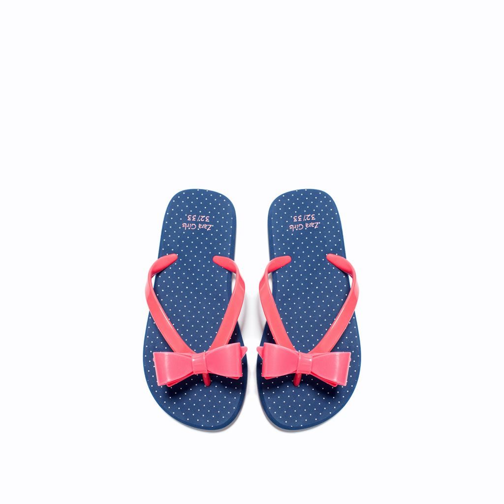 ZARA - KIDS - THONG SANDALS WITH BOW