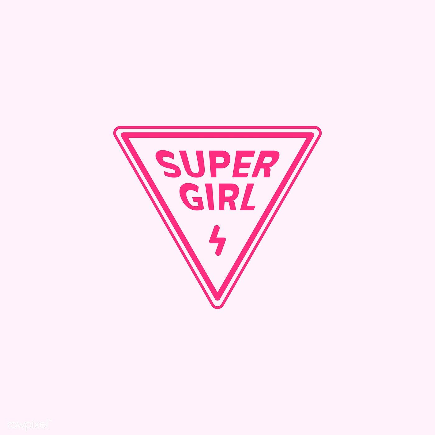 Super Girl Triangle Emblem Badge Illustration Free Image By Rawpixel Com Ningzk V In 2020 Vector Free Supergirl Badge