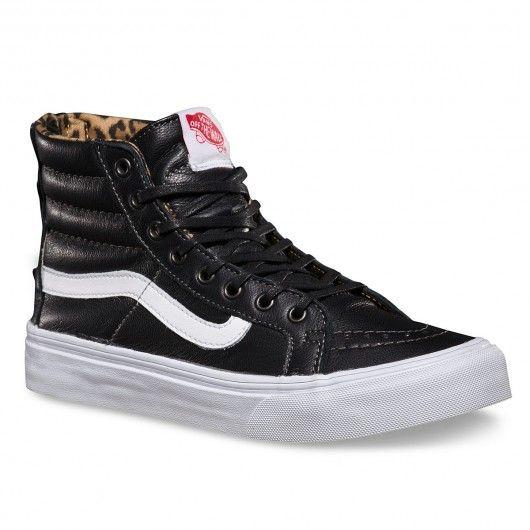 Chaussures Vans Sk8 Hi Slim LeopardNoir pour Femme