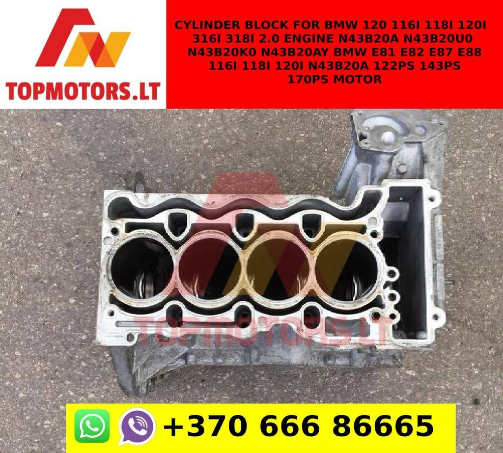 Cylinder Block For Bmw 120 116i 118i 120i 316i 318i 2 0 Engine N43b20a N43b20u0 N43b20k0 N43b20ay Bmw E81 E82 E87 E88 116i 118i 120i N43b20a 122ps 143ps 170ps M In 2020 Bmw 120 Bmw Engineering