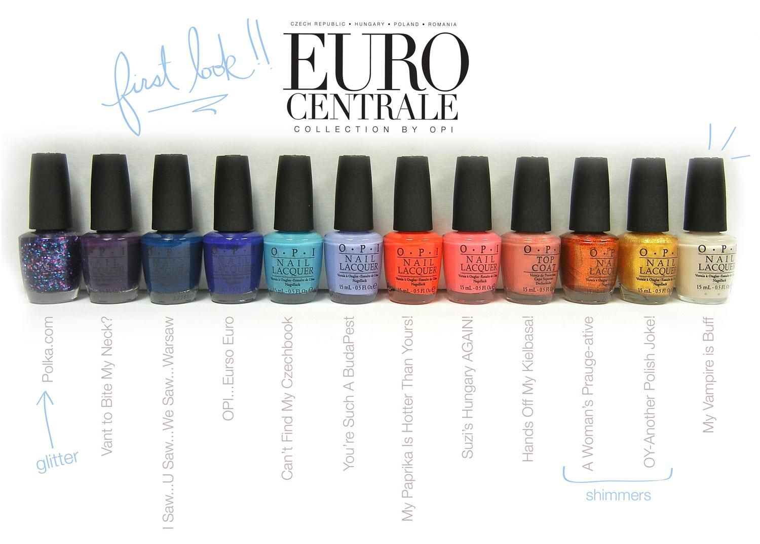 OPI Spring/Summer 2013 Euro Centrale Collection | Polish-Aholic ...