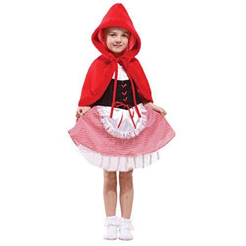 Kinder Mädchen Rotkäppchen Coral Fleece Halloween Kostüm Sets Anzug ...