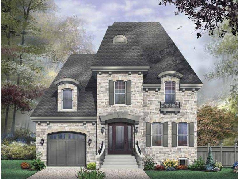 European Style House Plan 3 Beds 2 5 Baths 2281 Sq Ft Plan 23 574 Craftsman Style House Plans Mansard Roof House Plans