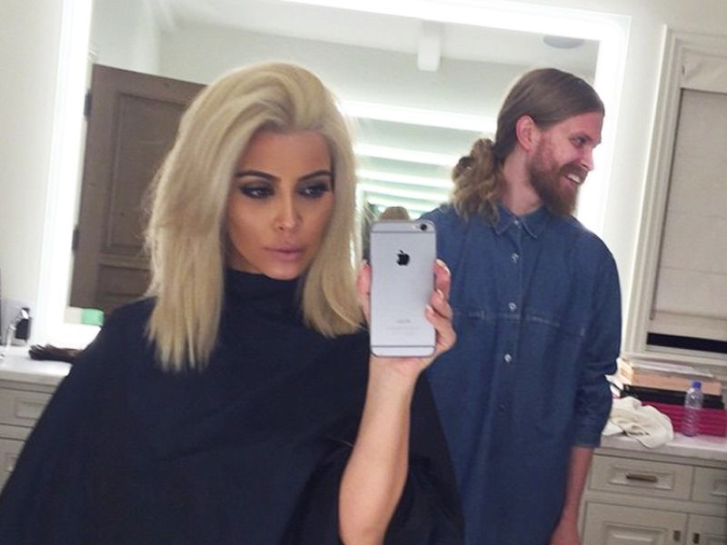 Kim Kardashian goes platinum with the help of the design district's Andy LeCompte Salon and Goddard + Bragg!