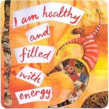 Eu sou saudável e cheio/cheia de energia