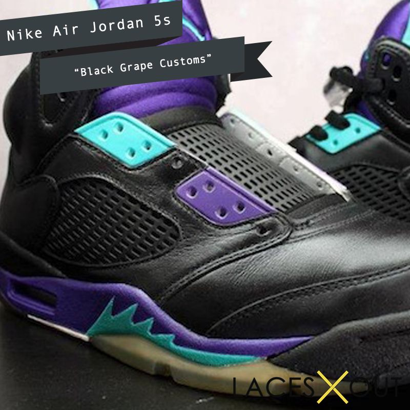 Air Jordan 5 – Black Grape Customs
