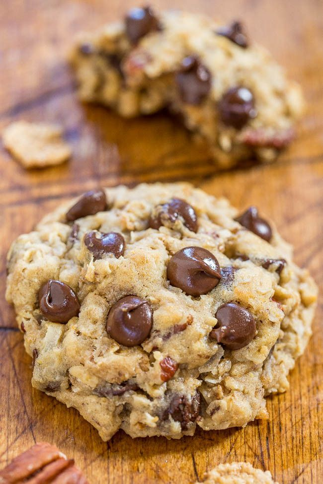 Cowboy Cookies (Loaded Oatmeal Cookies!) - Averie