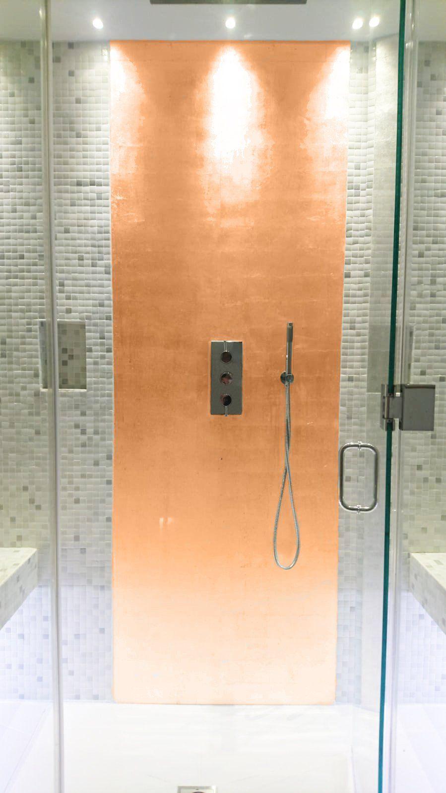 Copper Leaf Resin Panel Etsy Shower Panels Bathroom Wall Panels Bathroom Shower Panels