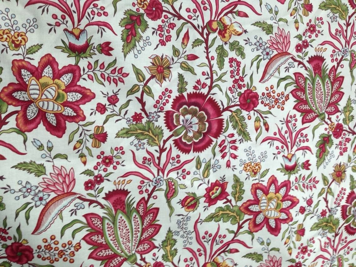 India Garden Chintz Antique Quilts Prints Floral Fabric