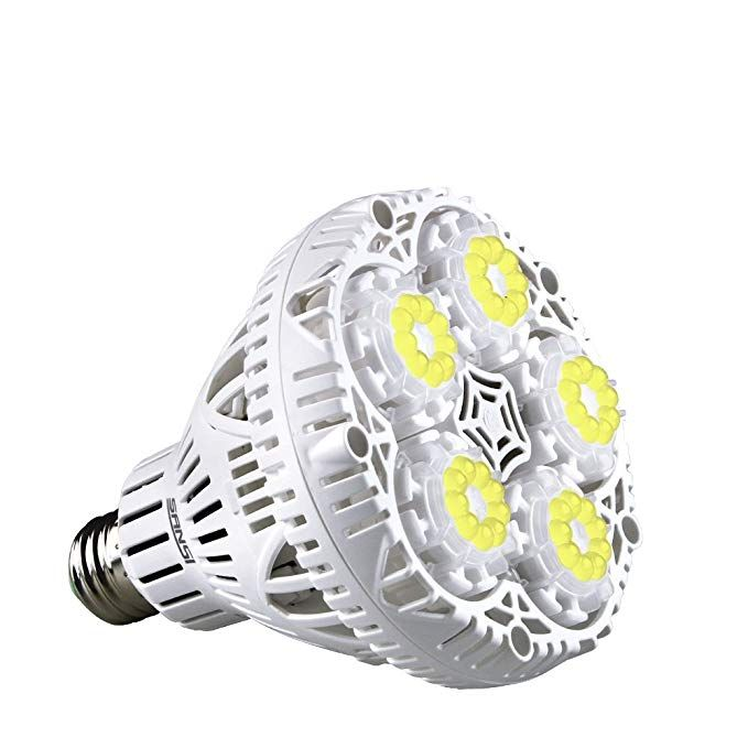 Amazon Com Sansi 30W Led Plant Light Bulb Full Spectrum 400 x 300